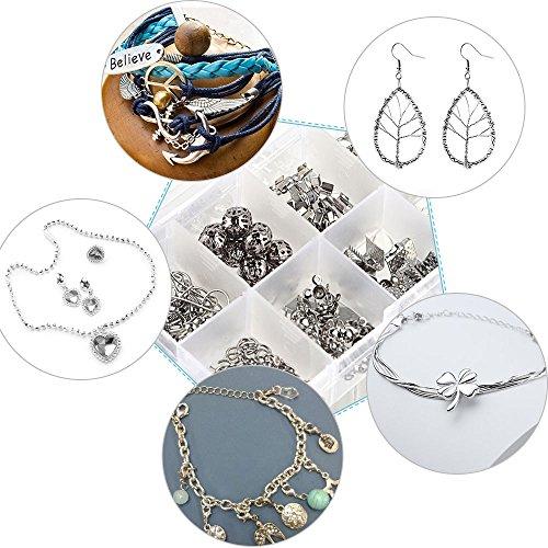 ZOCONE Piccolo Portagioie da Viaggio Scatola, 2 Strati Portable Jewelry Box per Orecchini, Anelli, Collane, Braccialetti, 16.5 * 11.5 * 5.5cm