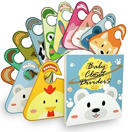 Kimuise Baby grucce divisori 12 Pièces divisori da armadio per bambini segnataglie per Bambini Baby divisori da armadio organizzare abbigliamento da abito tipo o Age Baby Shower Gift set