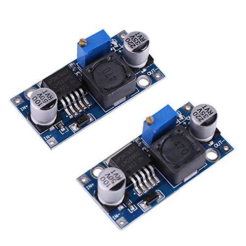2Pezzi Modulo Convertitore Regolabile DC-DC 3.2V~35V to 1.25V~35V 3 A regolabile tensione regolatore convertitore Step-Down moduli [Classe di efficienza energetica A]