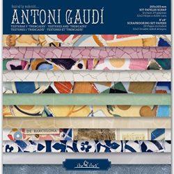 Kit di carta per album per ritagli, motivo: Gaudí, 203 mm 2