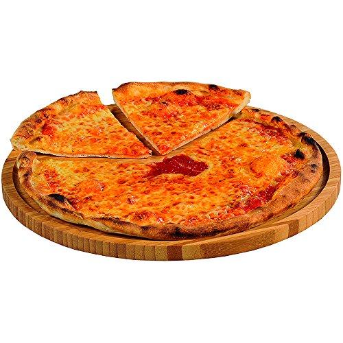 Kesper-Piatto da Pizza, in bambù, Colore: Marrone, 32 cm 3