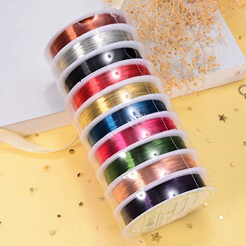 SUPVOX 0,38 millimetri gioielli che bordano il filo di rame per i mestieri che bordano monili che fanno, ogni rotolo di colore uno 10 rotoli 3