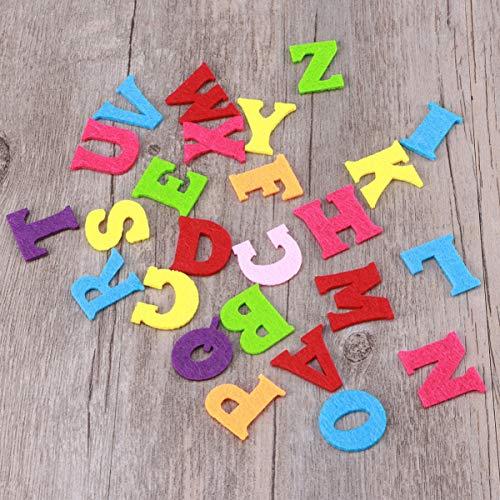 Exceart 50 Pezzi Lettere in Feltro Non Tessuto Alfabeto Lettere Colorate Lettere da Cucire Artigianali Accessorio Fatto a Mano per Bambini Regali Scrapbooking 5