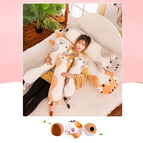 Ohyoulive Cute Plush Cat Doll Soft Stuffed Kitten Pillow Doll Toy Gift for Kids Girlfriend Creative New Long Cat Plush Toy Pillow Cute Doll Ragdoll Gift Sofa Supplies Soft And Good Breathability 7