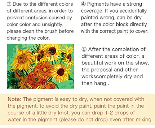 gogobest DIY Paint by Numbers Adult Child Oil Painting Kit Creative Toys Home Art Decor Gift – Cottage By The Lake 7