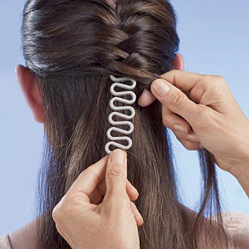 ANKKO Capelli di moda capelli Centipede intrecciatura strumento intrecciatore rullo magici Twist Styling Maker per donne ragazze treccia (Nero)