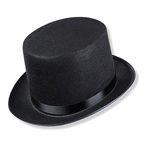 Schramm®Cappello a Cilindro con Nastro di Raso Nero per Cappello a Cilindro Chapeau per Adulti