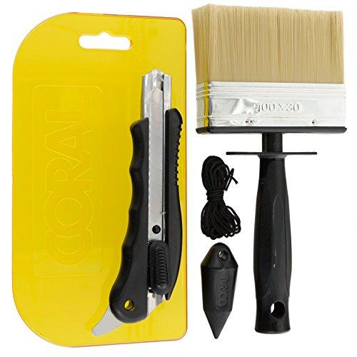 coral 69505Paperwiz originale per carta da parati kit con coltello e spazzola per piombino paper-hanging di 4pezzi Set