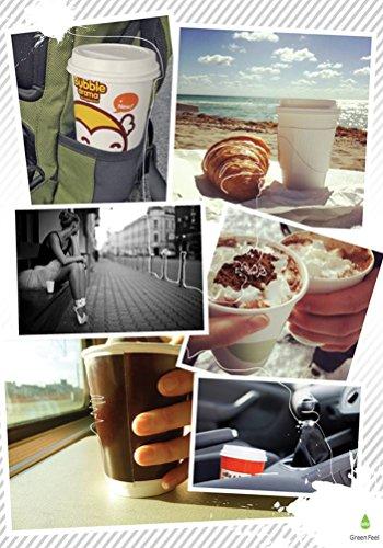 GreenFeel Palette di legno per caffè e tè, 178mm, per bicchieri di carta, per bevande calde e da asporto, 1000 pezzi 5