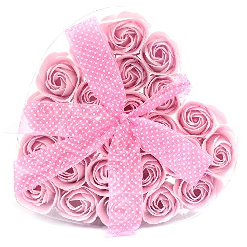 AW fiori di sapone rose profumate scatola regalo matrimonio amore, Rosa, 17.5x 17.5x 4cm