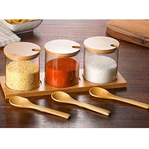 BESTonZON 6 Pezzi condimento Cucina cucchiai di Legno Condimenti Scoop Piccolo cucchiaino Cucchiaino da caffè al Miele 5