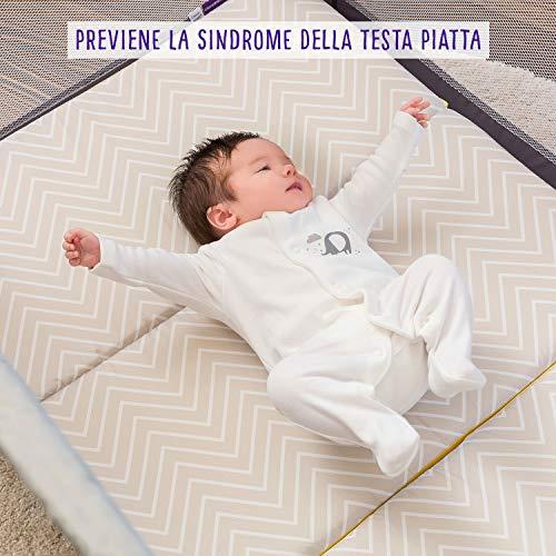 Clevamama ClevaFoam 3110 Materassino Pieghevole per Bambini, 95 cm x 65 cm x 7 cm, Multicolore 4