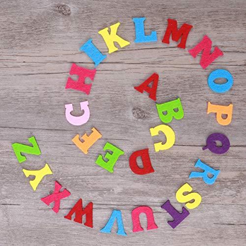Exceart 50 Pezzi Lettere in Feltro Non Tessuto Alfabeto Lettere Colorate Lettere da Cucire Artigianali Accessorio Fatto a Mano per Bambini Regali Scrapbooking 7