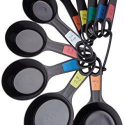 Kitchen Craft Set di 10 Misurini in Plastica a Forma di Cucchiaio, Silicone, Multicolore