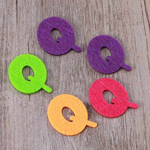 Exceart 50 Pezzi Lettere in Feltro Non Tessuto Alfabeto Lettere Colorate Lettere da Cucire Artigianali Accessorio Fatto a Mano per Bambini Regali Scrapbooking 8