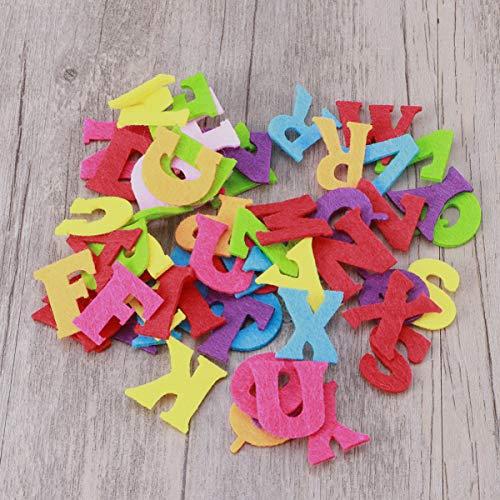 Exceart 50 Pezzi Lettere in Feltro Non Tessuto Alfabeto Lettere Colorate Lettere da Cucire Artigianali Accessorio Fatto a Mano per Bambini Regali Scrapbooking 10