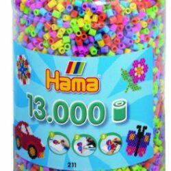 Hama 2671150 Perline a Fusione, 13.000 Pezzi, Colori Pastello, in Barattolo 2