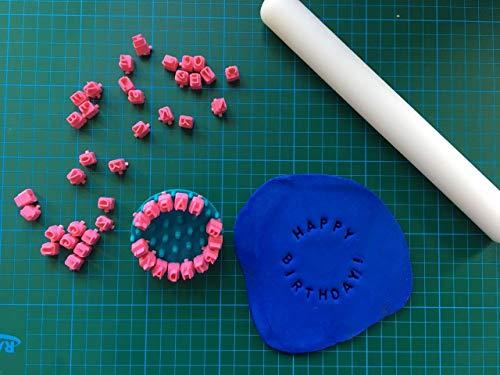 La Botica del Pasticceria timbri per Biscotti e Fondant-Decorazione – Personalizzabile Set con Lettere Numeri e Simboli indipendenti – Crea Messaggio Personalizzato 3