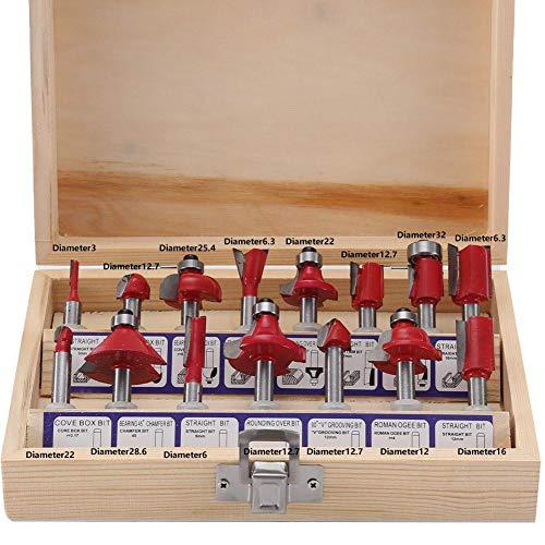 Trimmer per router elettrico, intaglio del legno Trimmer per legno elettrico con incisione Trimmer elettrico con 15 punte per router Tritacarne elettrico Trimmer per legno elettrico(#1) 6