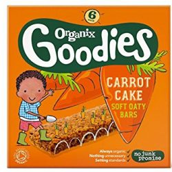 Organix Goodies Carrot Cake Oat Bar 6 x 30g 2