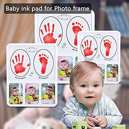 Tamponi di inchiostro per impronte e impronte neonato, Inchiostro per impronte di mani e piedi per bambini, Kit impronte bambini Inchiostro, Tampone di inchiostro di mani 3