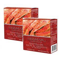 Geomar Gourmet Seafood Centolla Granchio Reale al Naturale Prodotto in Cile – 1 x 190 Gram