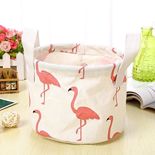 iTemer Storage Bag Home Tessuto Impermeabile cesta portaoggetti Portatile Cotone Cestino portaoggetti 3