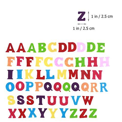 Exceart 50 Pezzi Lettere in Feltro Non Tessuto Alfabeto Lettere Colorate Lettere da Cucire Artigianali Accessorio Fatto a Mano per Bambini Regali Scrapbooking 3