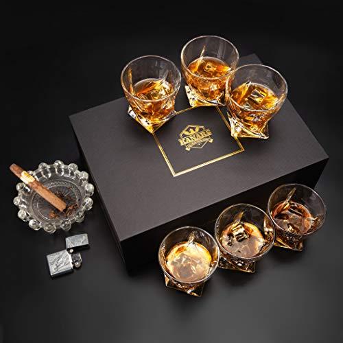 KANARS 6 Pezzi Bicchieri Whisky, Bicchiere Cocktail e Whiskey Cristallo, Bellissimo Regalo, 300ml 6