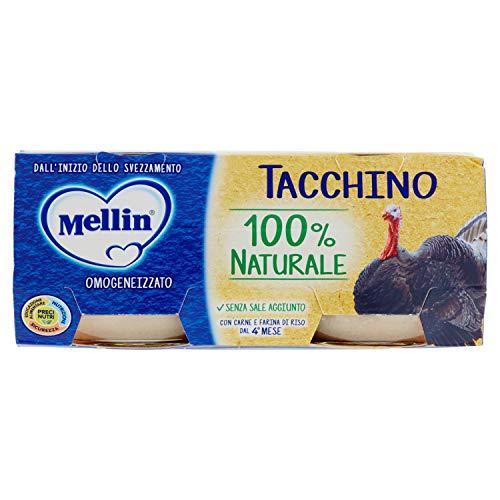 Mellin Omogeneizzato di Tacchino 100% Naturale – 24 Vasetti da 80 gr