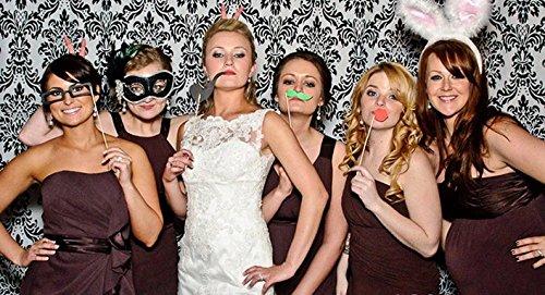 Veewon 40 ° Compleanno della Foto del Partito della Foto Props Unisex Divertente 36pcs Kit DIY Adatto per la Sua o la Sua Celebrazione 40 Compleanno Cabina Fotografica Puntello 4