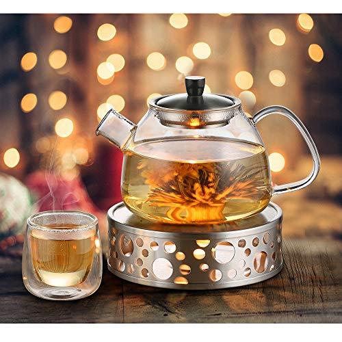 Glastal Scalda Teiera in acciaio inox fornello a candela per teiere 6