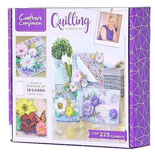 Crafter's Companion, kit per quilling con fiori 3D, multicolore, taglia unica