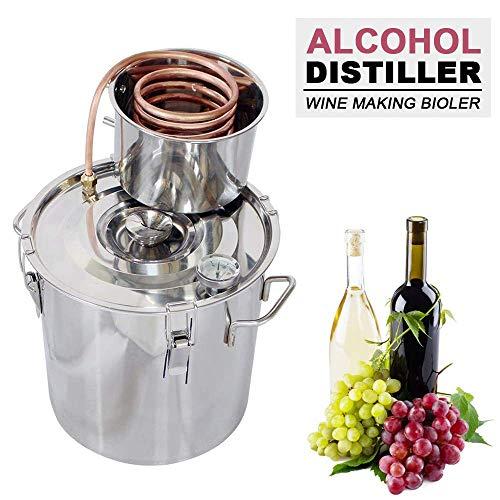 DCHOUSE – Kit per la produzione di vino, 20 l, 2 vasi, in acciaio INOX, distillatore per alcol Moonshine, caldaia con termometro