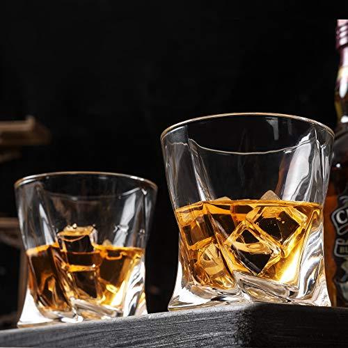 KANARS 6 Pezzi Bicchieri Whisky, Bicchiere Cocktail e Whiskey Cristallo, Bellissimo Regalo, 300ml 8
