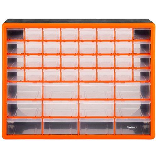 KETER Servante 5 Cassetti con Rotelle, Nero/Argento, 56,2 x 28,9 x 50,2 cm