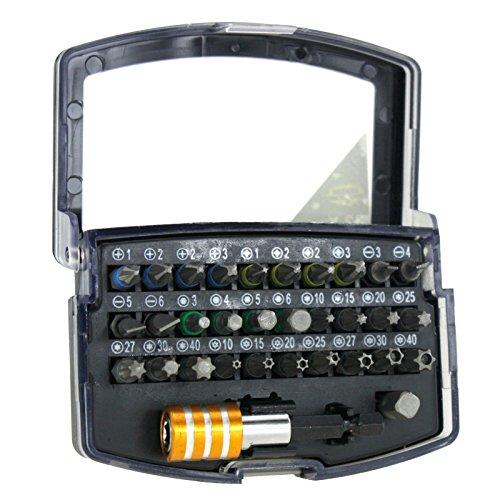 Set da 32 pezzi composto da punte per avvitatore a batteria, portapunte e confezione