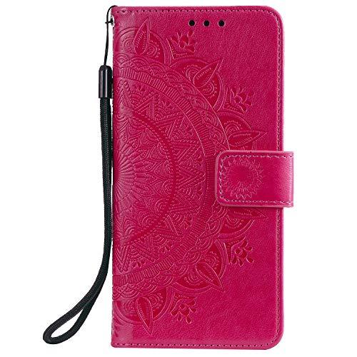 Lomogo Flip Cover Xiaomi Mi 9T/Redmi K20, Custodia Portafoglio a Libro Pelle Porta Carte Chiusura Magnetica Antiurto Leather Wallet Case per Xiaomi Mi9T – LOHHA080341 Rosso