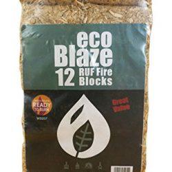 Bricchetti di Ecoblaze RUF 1 confezione (10Kg) – Legno duro a lungo bruciato, Carbon Neutral, Eco-Log Bricchette – Ideale per caminetti, stufe, caminetti, stufe, camini