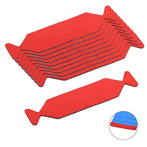Winjun – 10 Pezzi di Rivestimento Professionale per Raschietto con Superficie Sottile, Adatto per 10 cm/3,9 Pollici Dimensioni Raschietto, per incollare la Pellicola