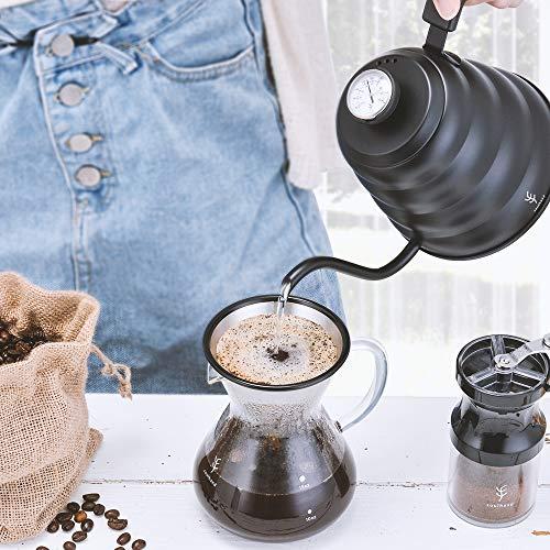 Soulhand Versare sopra Il Set per Il caffè – Caffettiera in Vetro Borosilicato 17oz 500ml, Gocciolatore Riutilizzabile del Filtro dell'Acciaio Inossidabile, Paletta del caffè 1 Cucchiaio 7