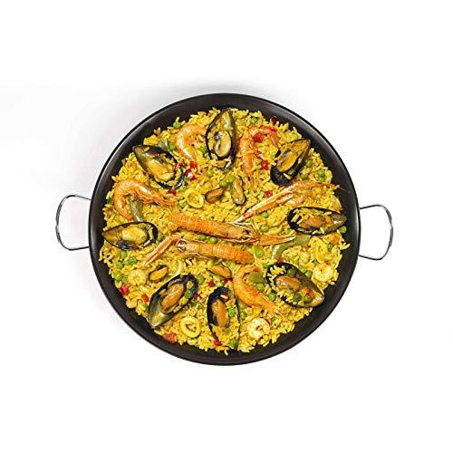 PaellaWorld   Padella per paella a induzione, 46 cm, in acciaio al carbonio, con rivestimento antiaderente 4