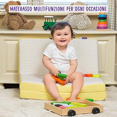 Clevamama ClevaFoam 3110 Materassino Pieghevole per Bambini, 95 cm x 65 cm x 7 cm, Multicolore 5