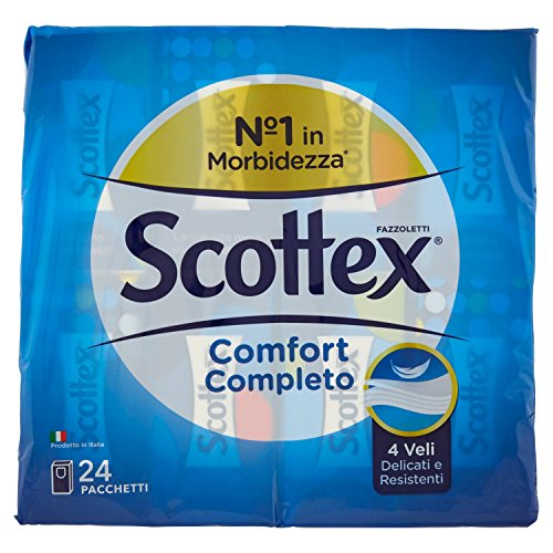 Scottex Fazzoletti Morbidi e Resistenti – 24 pacchetti