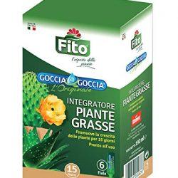 Concime Piante GRASSE Liquido Goccia a Goccia per Piante 6 fiale da 32 ml per Confezione  Pronto all'Uso, già Diluito  Rafforza Le Difese Naturali