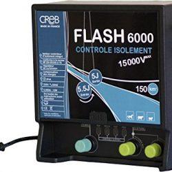 Creb Flash 6000 – Elettrificatore, plastica, 24,5 x 23 cm, Colore Blu/Nero