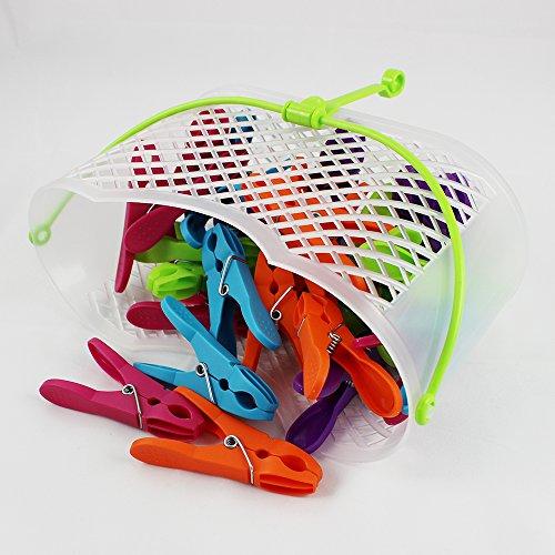 COM-FOUR® 30x Mollette in pratico cestino con manico (Set 0031 pezzi 1 – cesto + staffe) 4