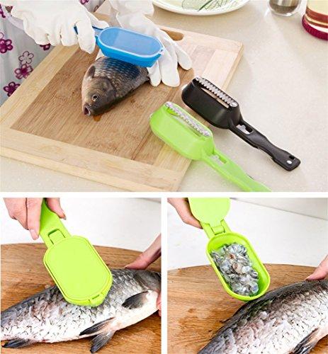 Utensili per pesce Pulizia veloce Pesce di pesce Acciaio Scale di pesce Spazzola spazzola Rimuovente Pulitore Scaler Skinner Scaler Strumenti di pesca 5