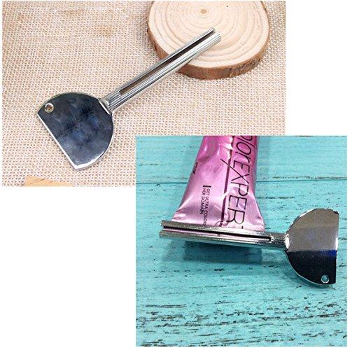 TIANOR 1 Pezzi Chiave per Parrucchiere per Spremere Tubi di Colore Tubetti di Dentifricio in Metallo Squeezy spremidentifricio 7