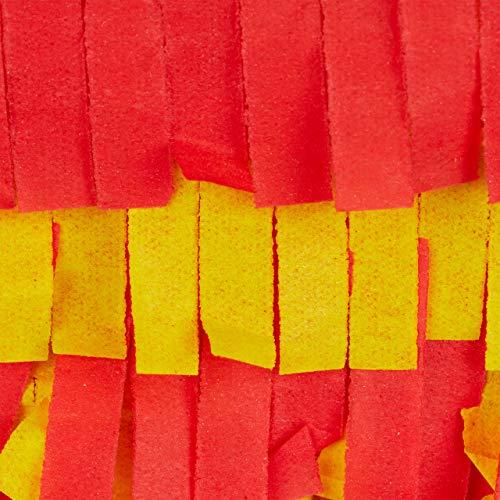 Relaxdays Set da 3 Pezzi con Pignatta Numero 6, Benda e Bastone, per Feste di Compleanno, per Adulti e Bambini, da Riempire, Colorato 10